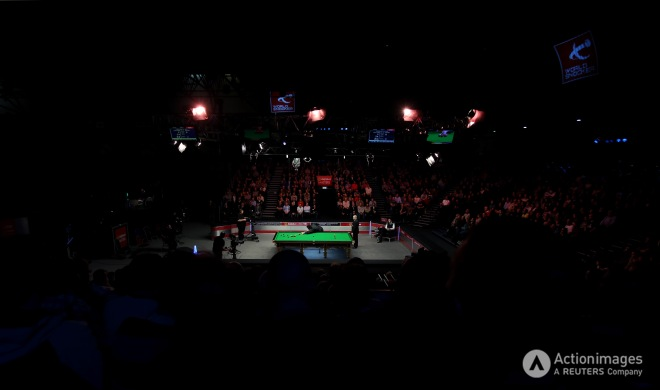 General view of Ronnie O'Sullivan during the quarter finalsteven paston keep